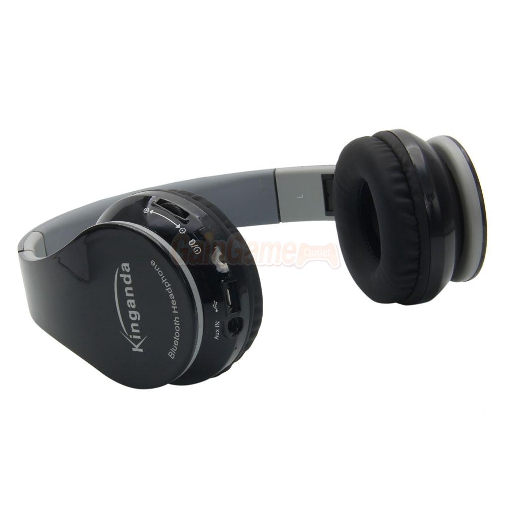 bluetooth wireless stereo headset headphone with receiver usb for ps4 pc ebay. Black Bedroom Furniture Sets. Home Design Ideas