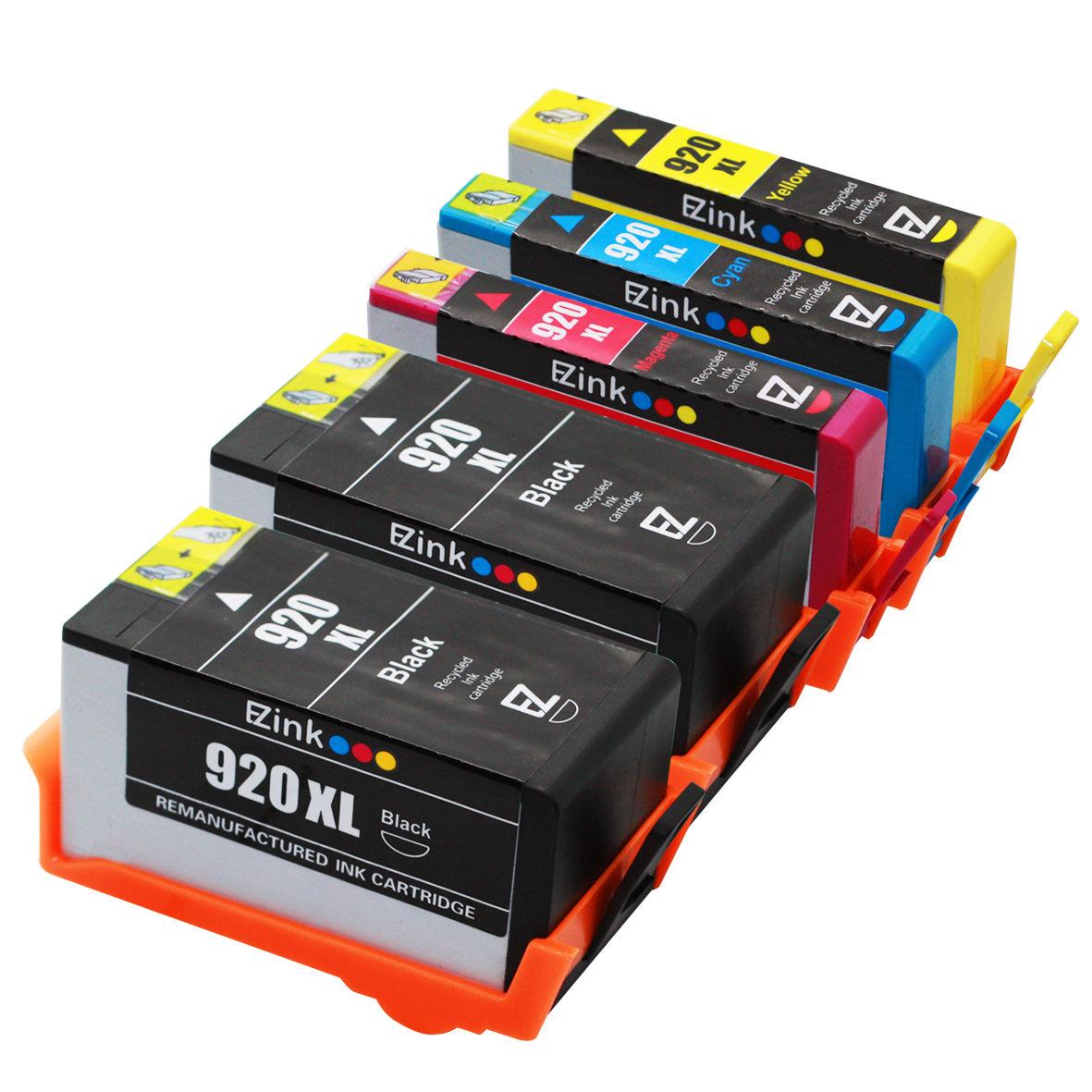5 pack remanufactured 920xl ink combo for hp officejet 7000 6000 6500 ebay. Black Bedroom Furniture Sets. Home Design Ideas