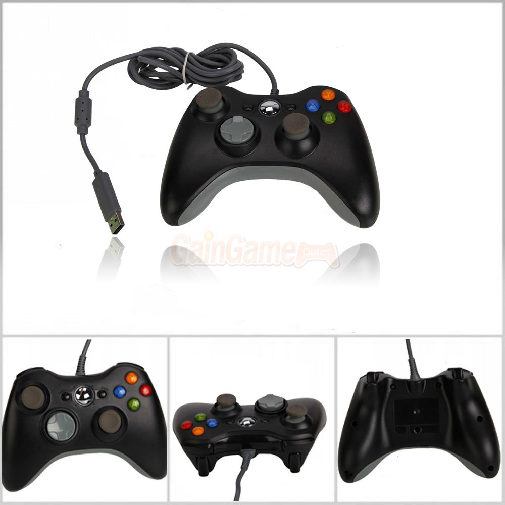 New Wired USB Game Pad Controller For Microsoft Xbox 360 Black Free ...