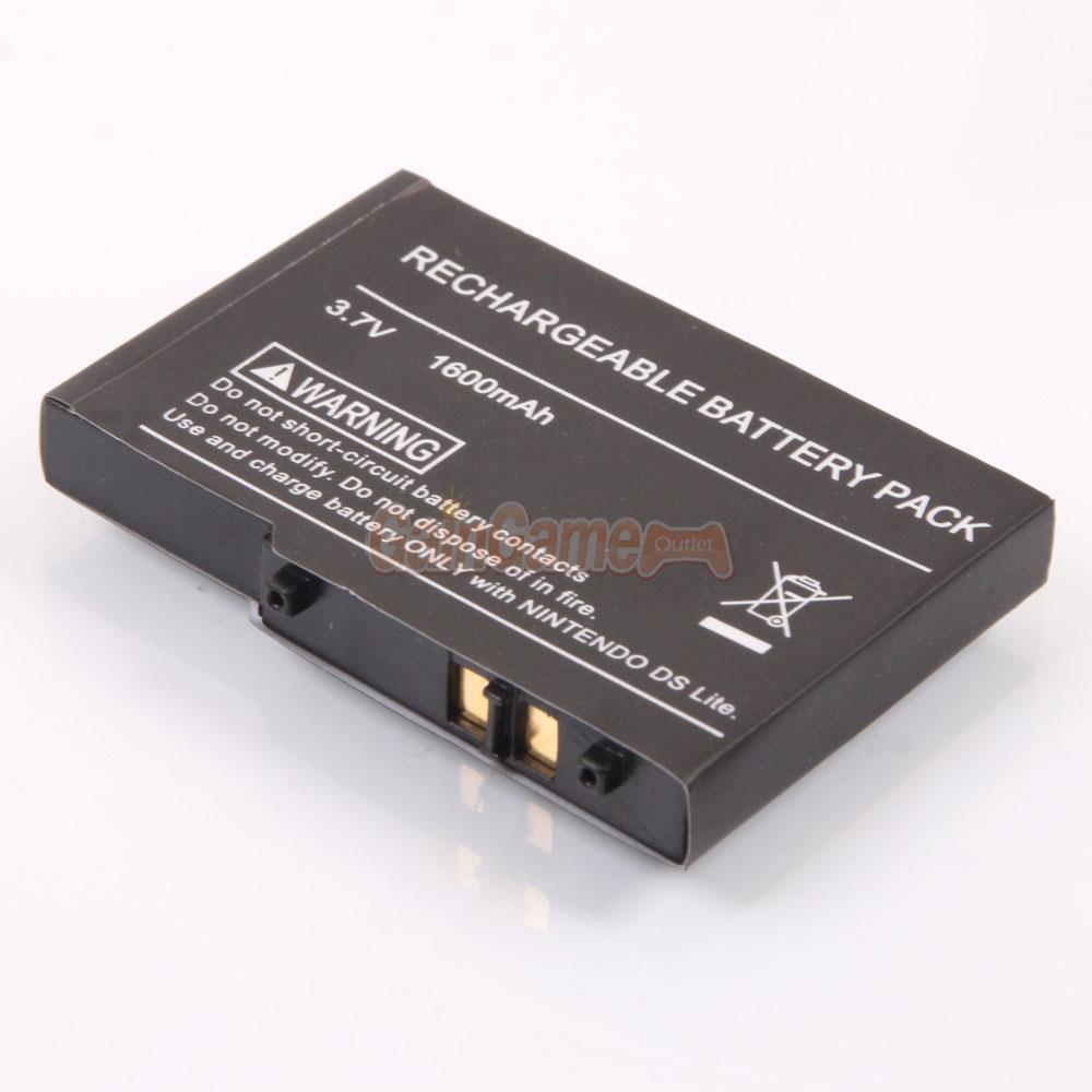 1600mah replacement rechargeable battery for nintendo ndsl dsl ds lite tool ebay. Black Bedroom Furniture Sets. Home Design Ideas