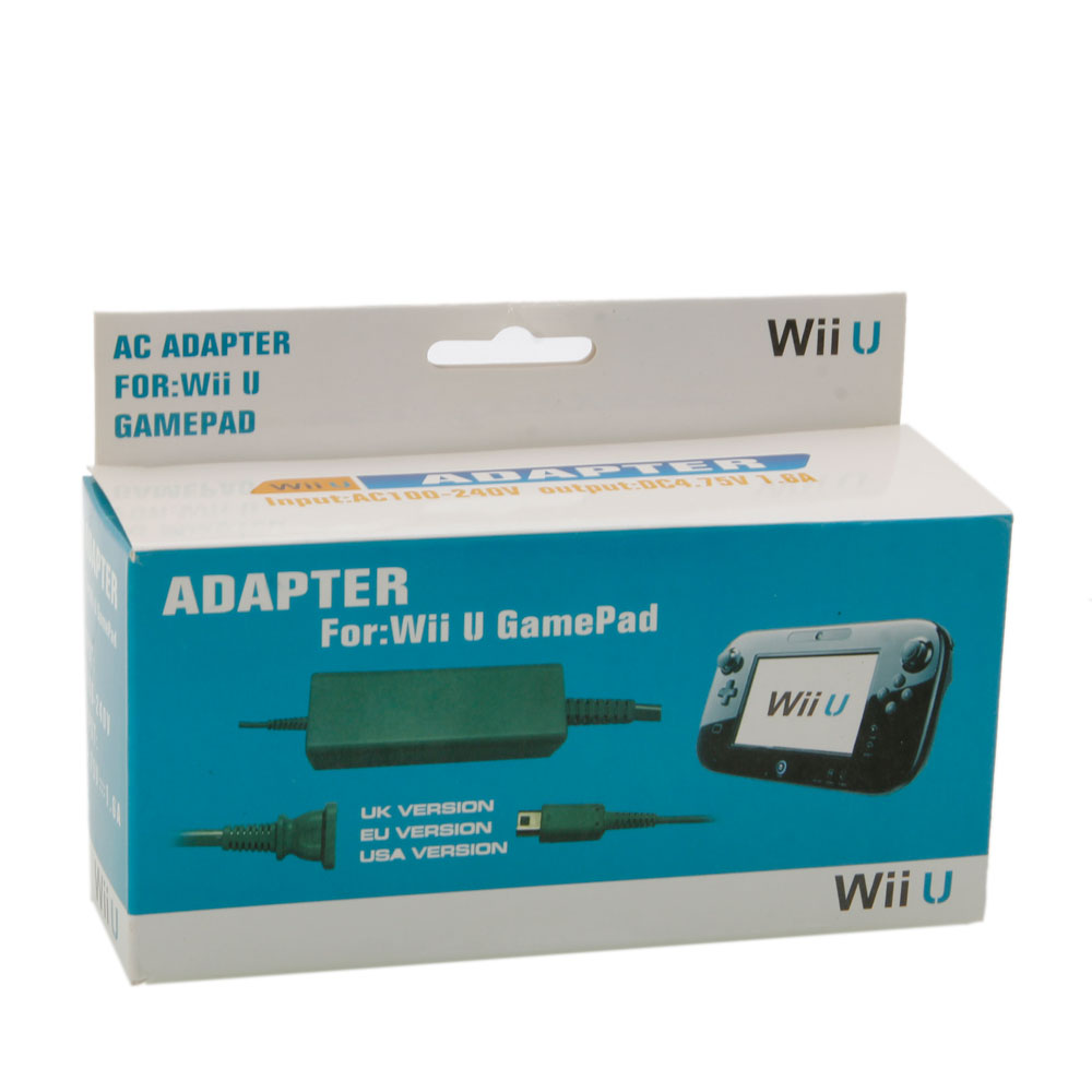 Grey power adapter supply for nintendo wii u game pad us for Wii u tablet charger